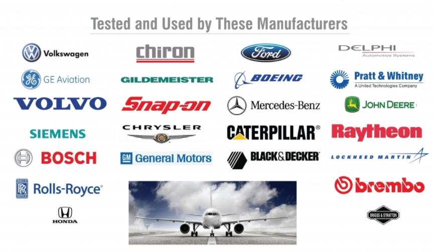 Manufactuers who use HEULE tools, such as Boeing, Ford, GE, VW, Pratt and Whitney, Bosch
