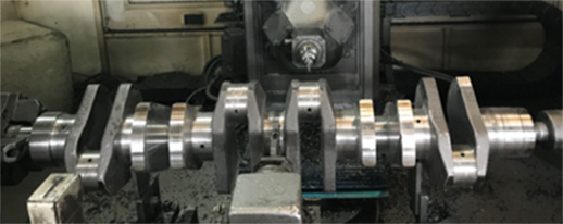 cross bore deburring crankshaft