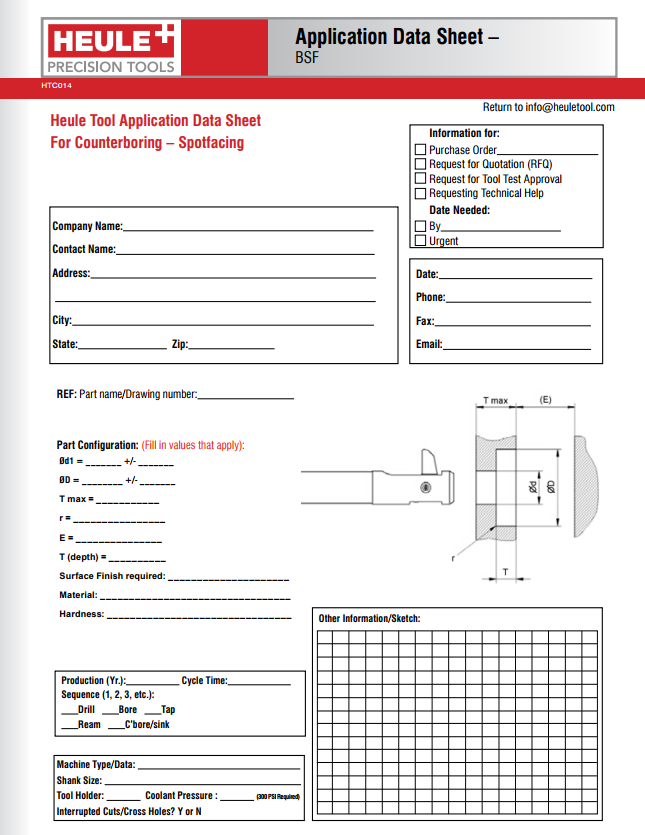 Heule application data sheet for BSF