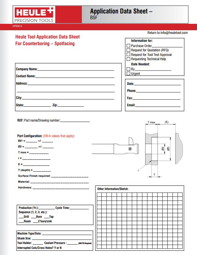 Heule application data sheet for BSF