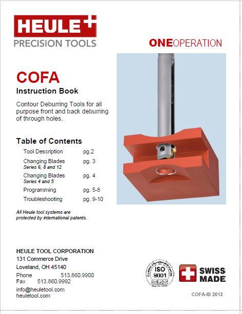 HEULE COFA deburring tool instructions