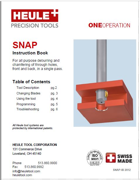 HEULE SNAP chamfering tool instructions