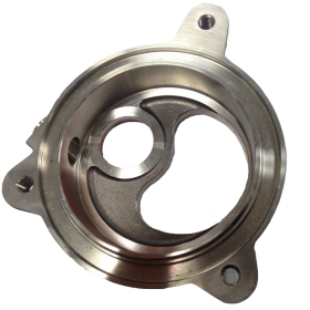 Deburring on a metal flange