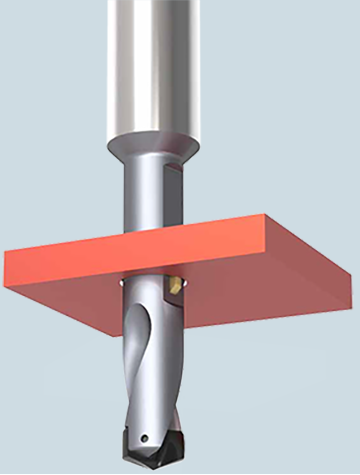 VEX-P combination drill and chamfer tool