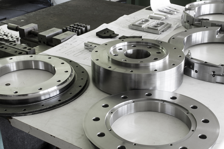 Precision machining parts from a CNC machine