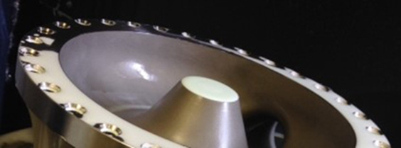 Spotfacing Inconel on an aircraft part