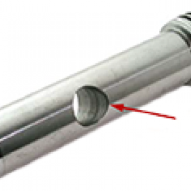 Picture of a stainless steel part machined with a deburring tool