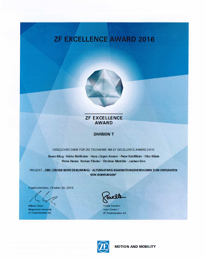 ZF Excellence Award