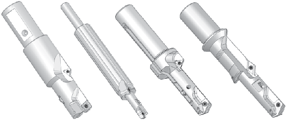 Combination tools customized for drilling, spotfacing, countersinking, and chamfering