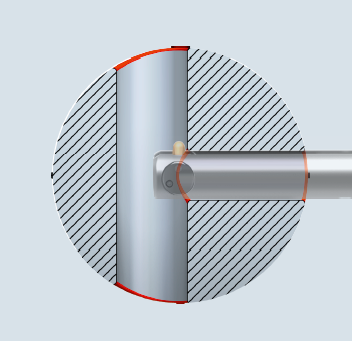 cross hole deburring applications for sloped bores